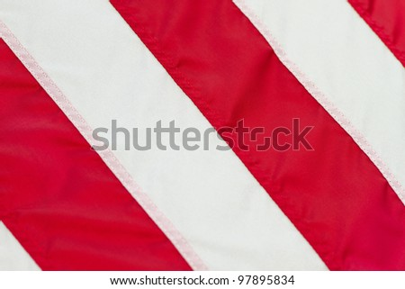 closeup texture of the US flag stripes - stock photo
