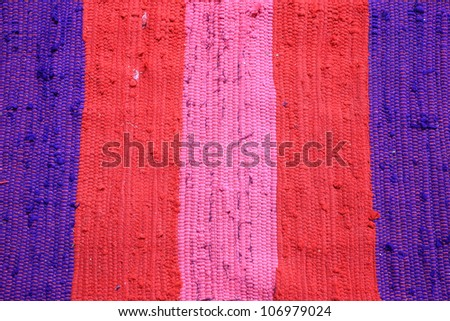 Closeup textured pattern of old colorful rag - stock photo