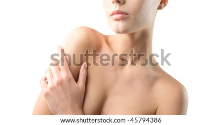 Closeup to a woman's body part - stock photo