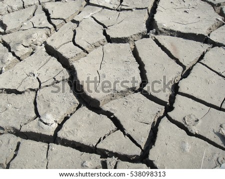 Closeup to Arid soil