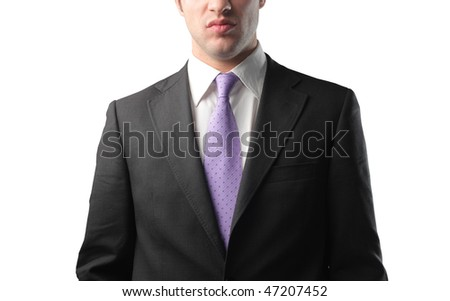 Closeup to the suit of a businessman - stock photo