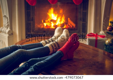 Feet Fireplace Stock Images, Royalty-Free Images & Vectors ...