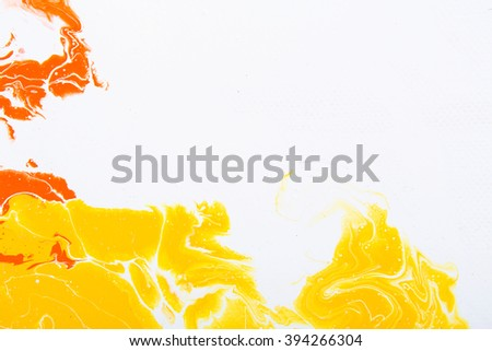Closeup view of an original abstract painting on canvas. art splash. Hand painted background with space for text or image. Fragment of artwork, modern, contemporary. - stock photo