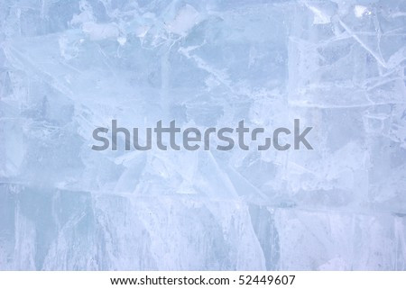 Closeup view of Ice wall, background
