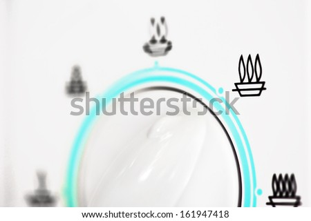Closeup view of Microwave oven - stock photo
