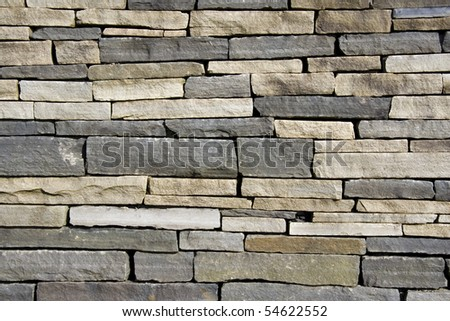 Closeup view of stone wall - stock photo
