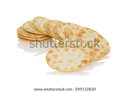 closeup water crackers - stock photo
