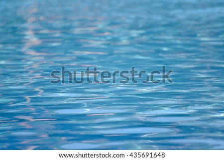 Closeup water surface in swimming pool, Selective shallow dept of field - stock photo