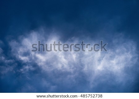 Closeup white cloud abstract or white smoke with blue sky