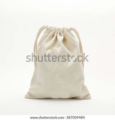 cloth bag - stock photo