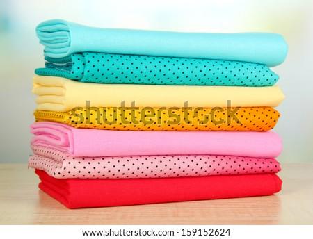 Cloth fabrics close up - stock photo