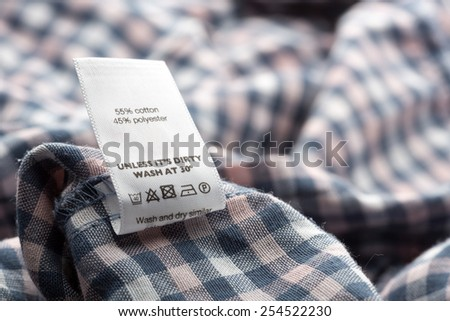 Cloth label - stock photo