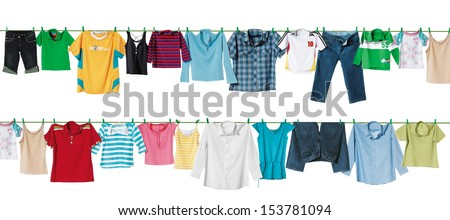 cloth line - stock photo