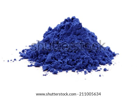 cloth whitener indigo on white background