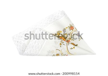 Cloth with flowers  - stock photo