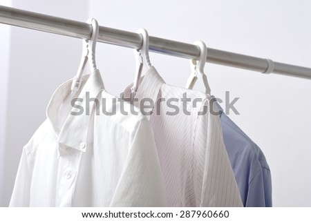 Clothes drying on laundry in domestic room