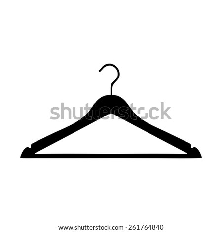 Clothes Hanger icon - stock photo
