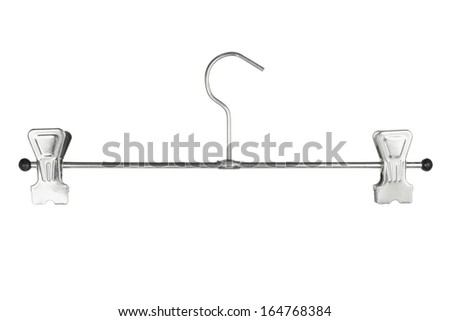 Clothes Hanger on White Background - stock photo
