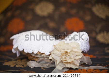 Clothes in wooden basket - stock photo