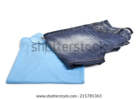 clothes, jeans isolated on white