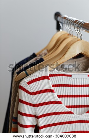 Clothes on a rail - stock photo