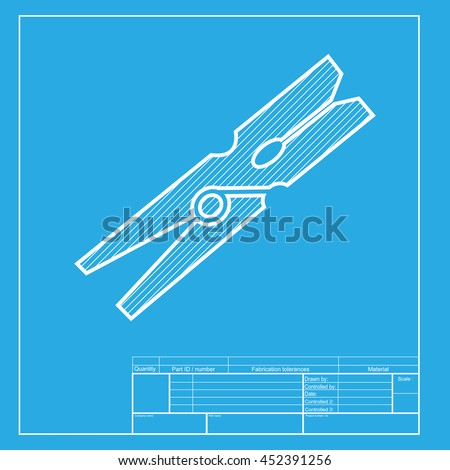 Clothes peg sign white section icon stock illustration 452391256 clothes peg sign white section of icon on blueprint template malvernweather Images