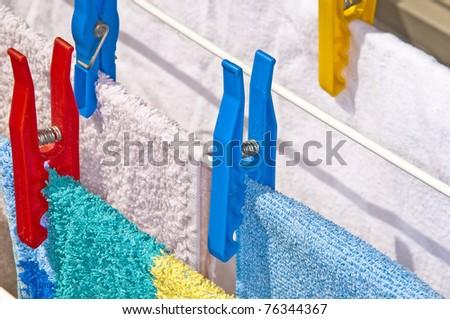 clothespin - stock photo