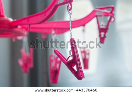 clothespin Pink - stock photo
