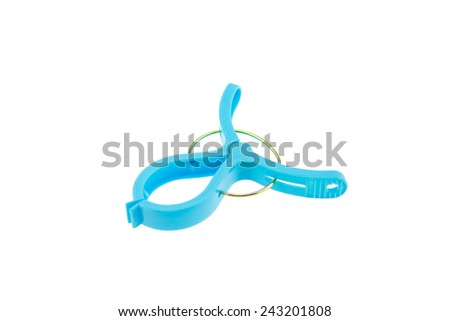 Clothespins on a white background - stock photo