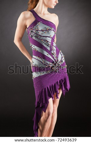 Clothing for latino, close up studio isolated shot