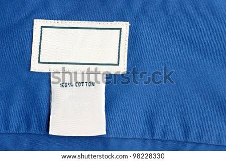 Clothing label inside of shirt - stock photo