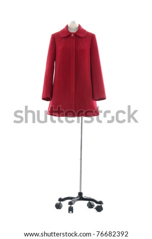 clothing on mannequin isolated - stock photo