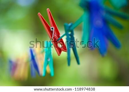 Clothspin - stock photo