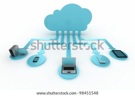 Cloud - stock photo