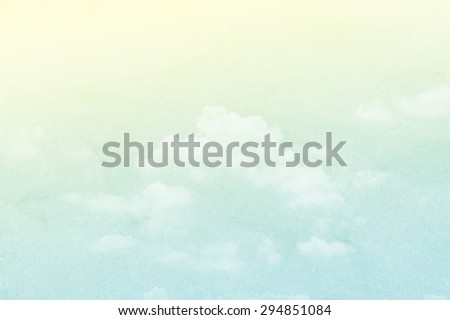 cloud and sky in pastel color abstract background with grunge paper  texture - stock photo
