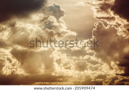 Cloud and sky in the spring season nature vintage - stock photo