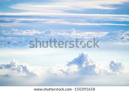 cloud and sky view from a airplane - stock photo