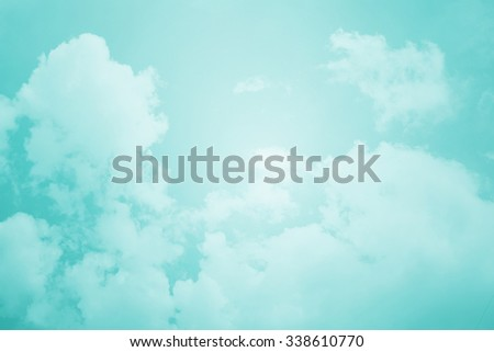 cloud and sky with pastel filter, nature abstract background  - stock photo