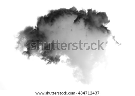 cloud and smoke isolated on white, background and texture