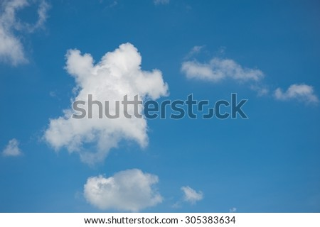 Cloud at blue sky