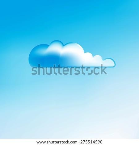 Cloud background, creative style illustration - stock photo