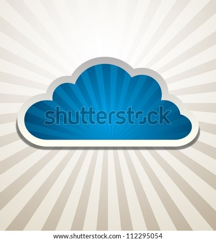 Cloud Background Vector abstract design. Raster version of the loaded vector - stock photo