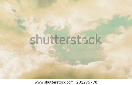 cloud background, vintage paper texture