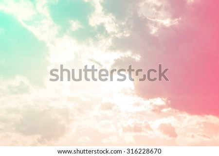 cloud background with a pastel colored gradient. - stock photo