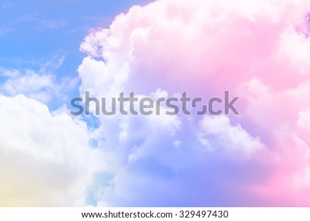 cloud background with a pastel full colored - stock photo