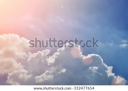 cloud blue sky background  - stock photo