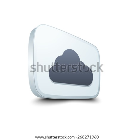 Cloud button - stock photo