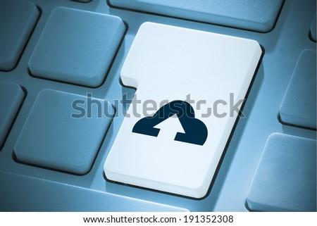 Cloud computing against white enter key on keyboard - stock photo