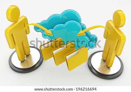 cloud computing and computer network concept - stock photo