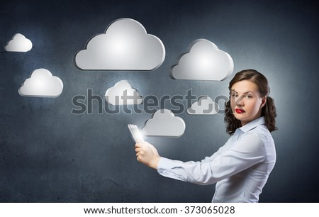 Cloud computing and connection concept